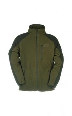 Membránová, fleecová zimní bunda ILLY - khaki/černá