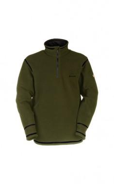 Fleecový pulover s dlouhým rukávem - ROSBERG - khaki