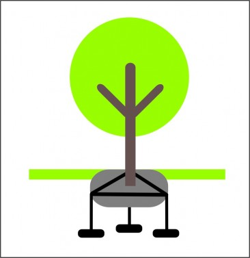 Kotvení stromů KOTVOS KSB-Z2- set